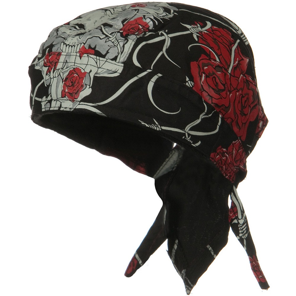 Road Hog Lethal Threat Sweatband Headwrap - Thorns and Roses - Hats and Caps Online Shop - Hip Head Gear