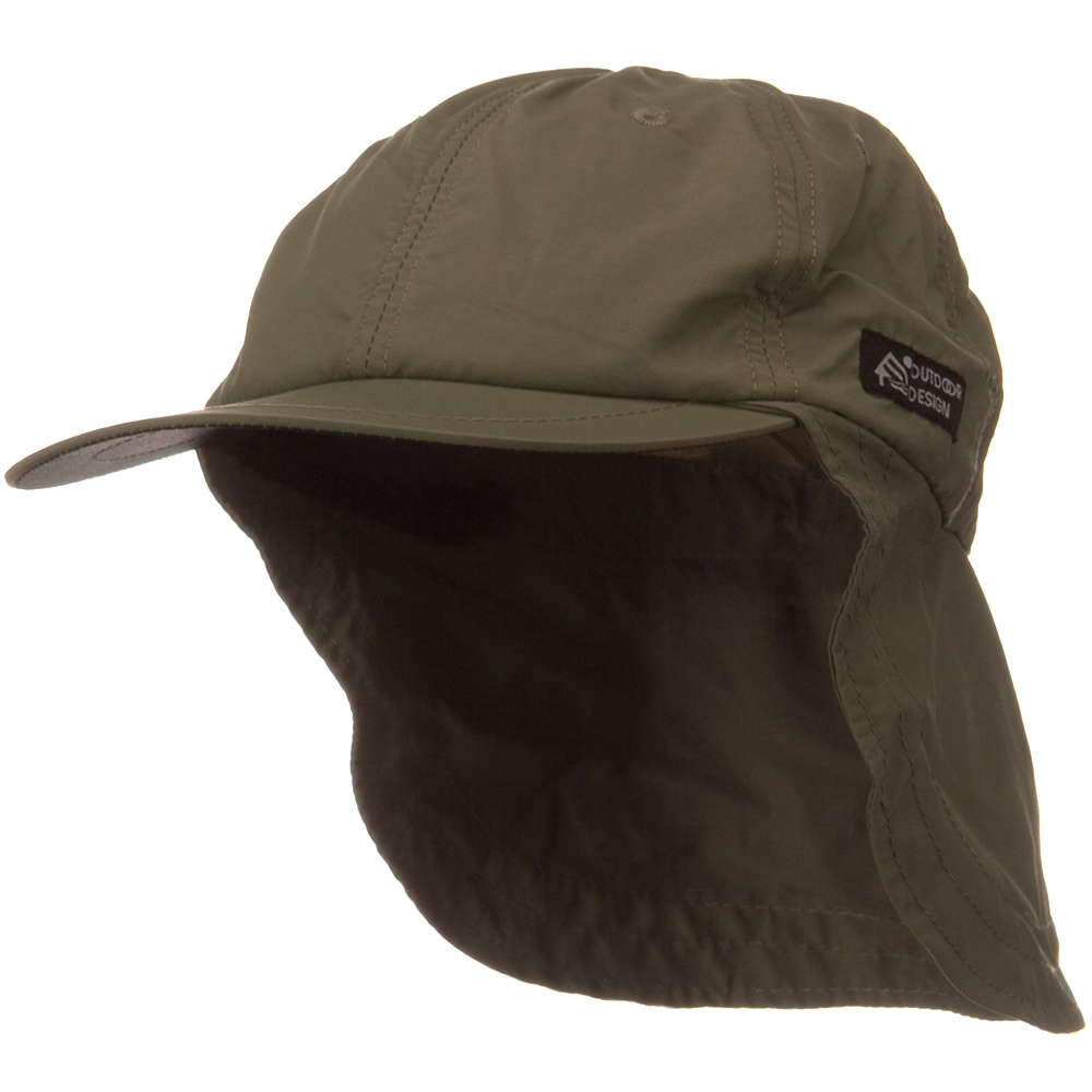 Nylon Flap Hats-Olive - Hats and Caps Online Shop - Hip Head Gear