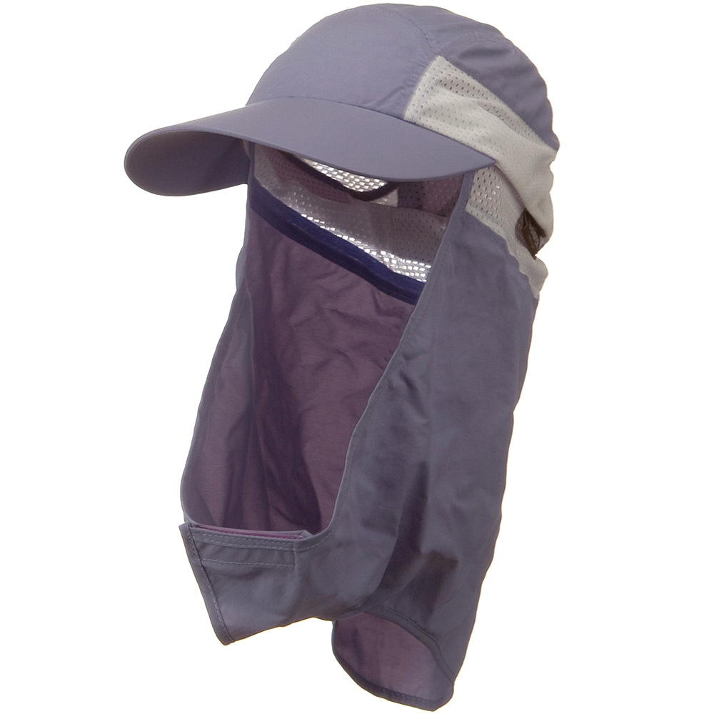 UV 50+ Talson Removable Flap Cap - Purple - Hats and Caps Online Shop - Hip Head Gear