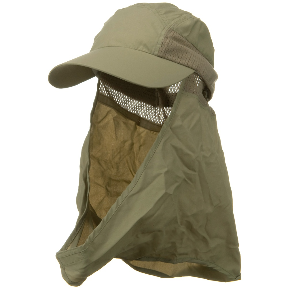 UV 50+ Talson Removable Flap Cap - Khaki - Hats and Caps Online Shop - Hip Head Gear