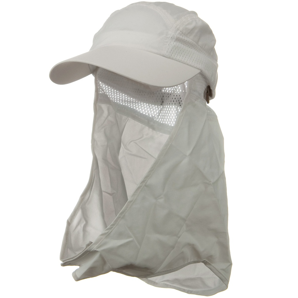 UV 50+ Talson Removable Flap Cap - White - Hats and Caps Online Shop - Hip Head Gear