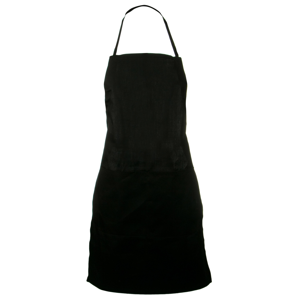 2 Pocket Adjustable Apron - Black