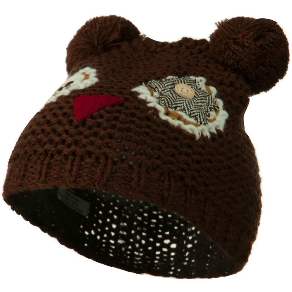 Toddler Acrylic Animal Ear Beanie - Owl Brown - Hats and Caps Online Shop - Hip Head Gear