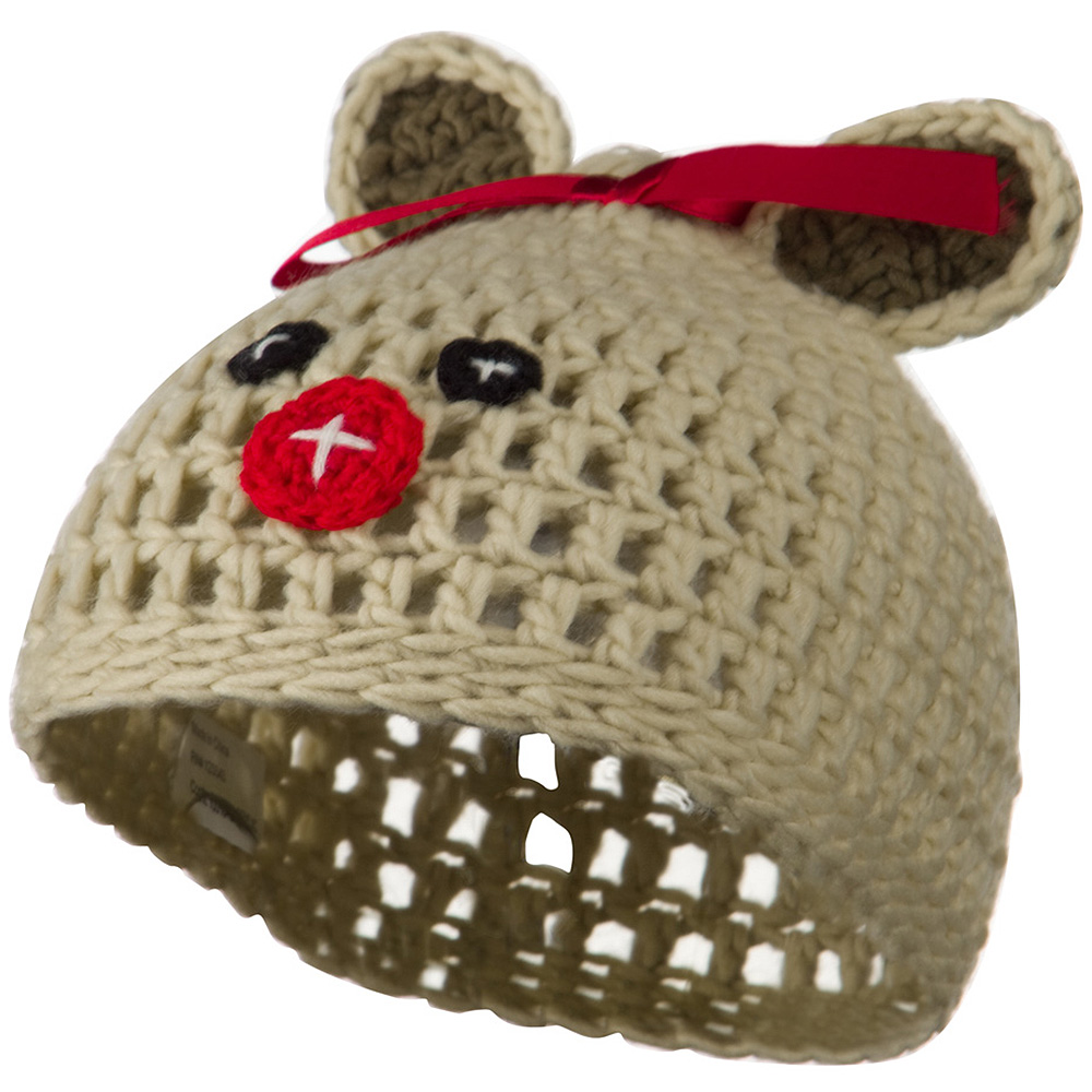 Toddler Acrylic Animal Ear Beanie - Bear Beige - Hats and Caps Online Shop - Hip Head Gear