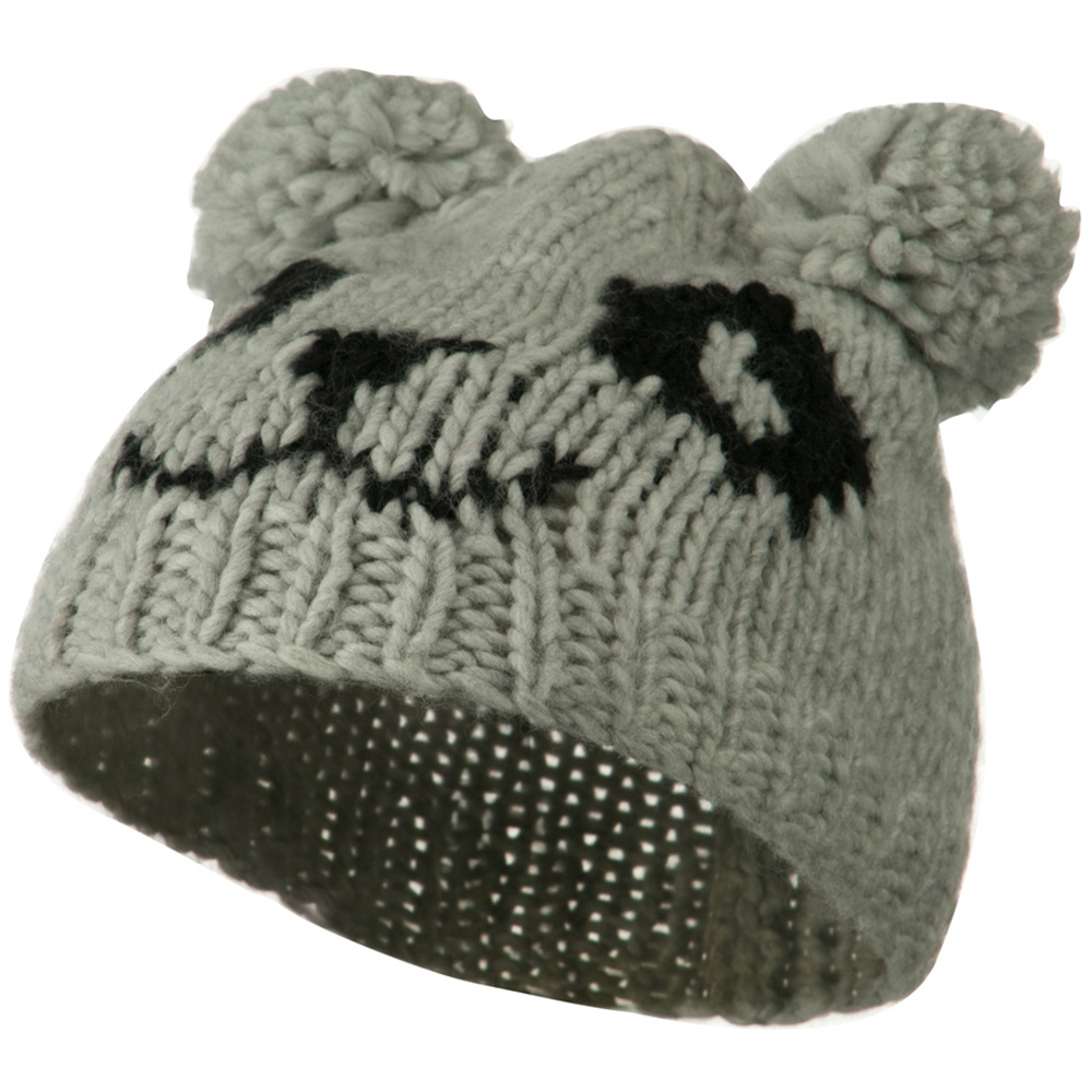 Toddler Acrylic Animal Ear Beanie - Panda Grey - Hats and Caps Online Shop - Hip Head Gear