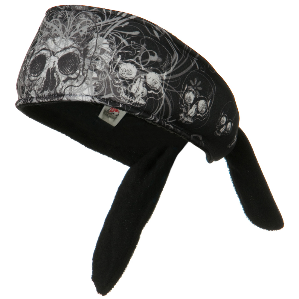 Anatomy Of A Headband - Davinci Skull - Hats and Caps Online Shop - Hip Head Gear