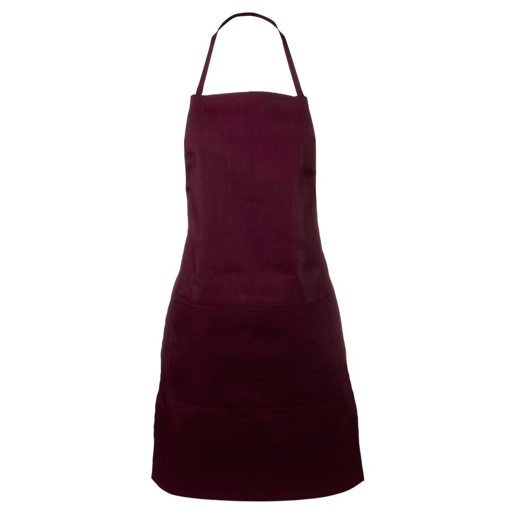 2 Pocket Adjustable Apron - Maroon