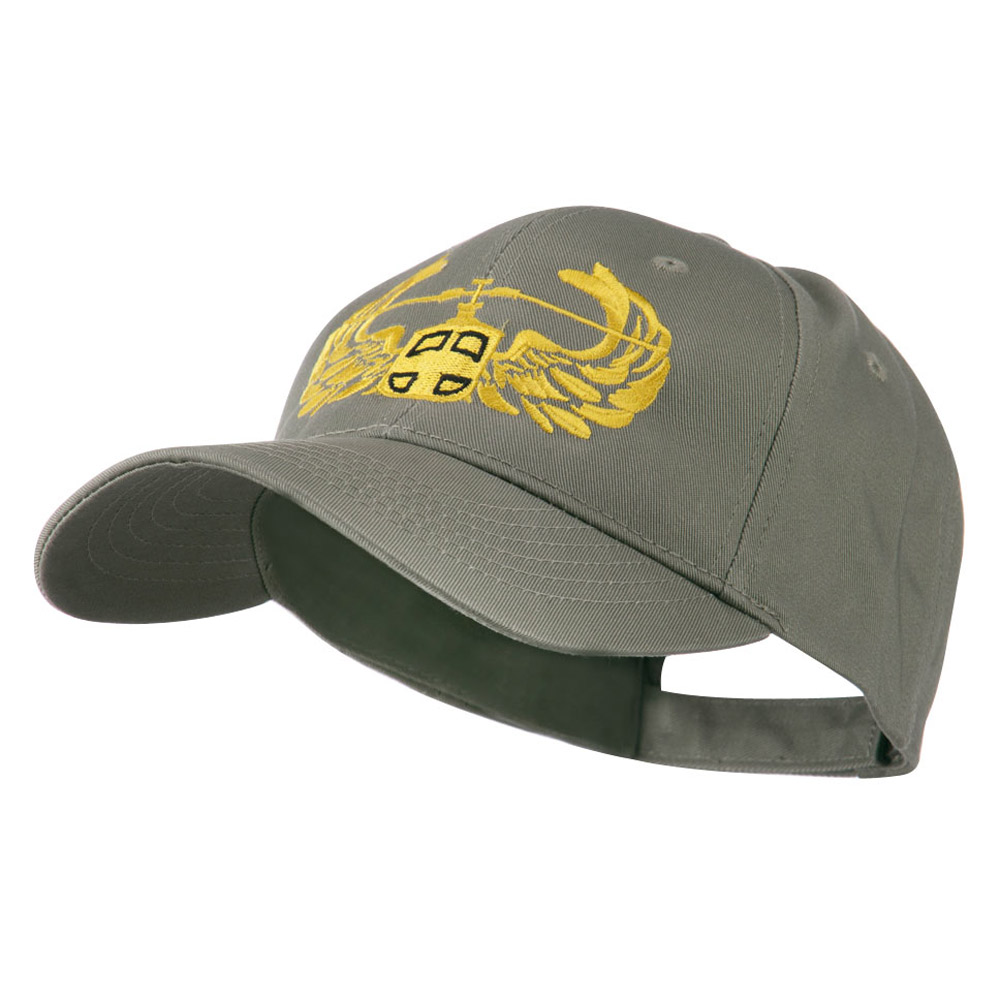 Air Assault Air Force Badge Outline Embroidered Cap - Olive - Hats and Caps Online Shop - Hip Head Gear