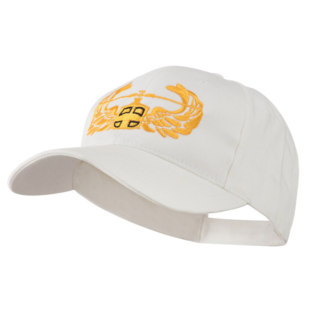 Air Assault Air Force Badge Outline Embroidered Cap - White - Hats and Caps Online Shop - Hip Head Gear