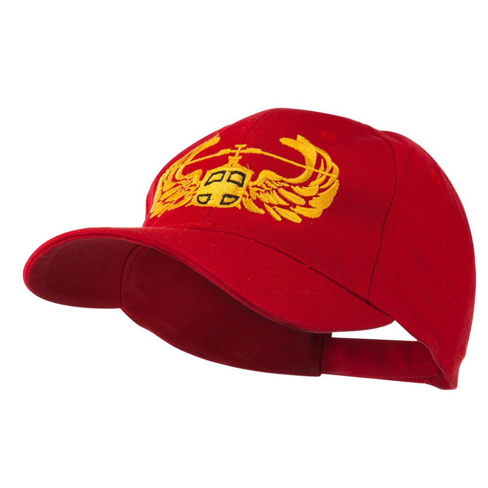 Air Assault Air Force Badge Outline Embroidered Cap - Red - Hats and Caps Online Shop - Hip Head Gear
