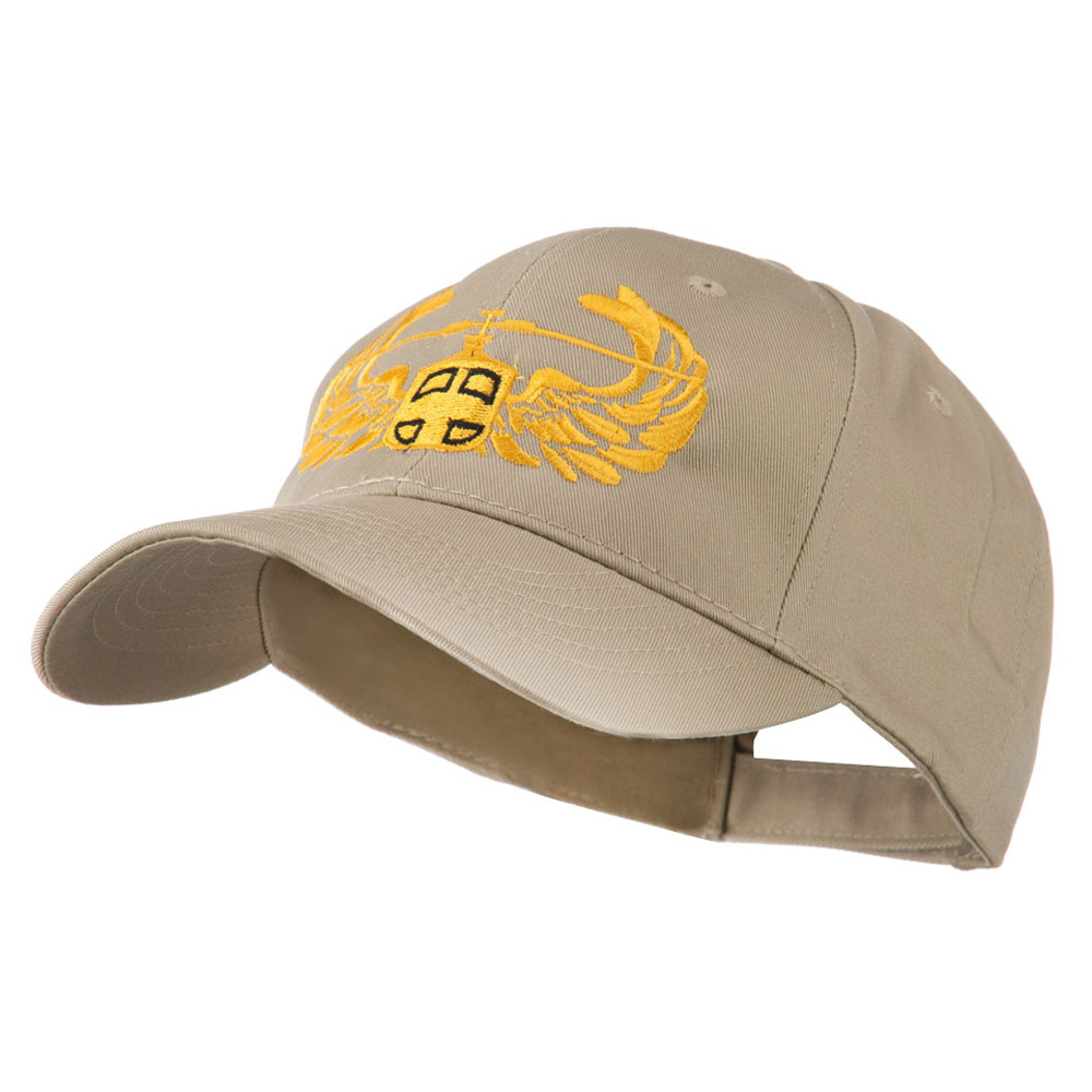 Air Assault Air Force Badge Outline Embroidered Cap - Khaki - Hats and Caps Online Shop - Hip Head Gear