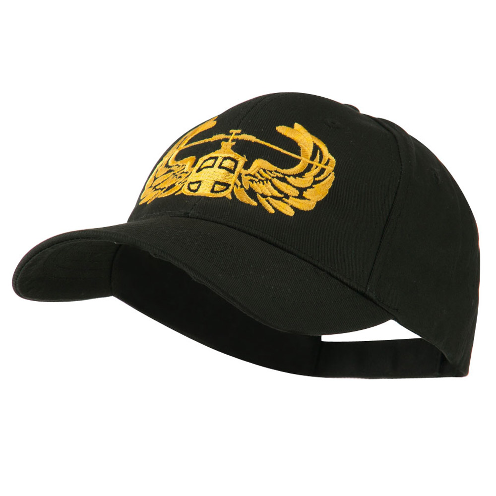 Air Assault Air Force Badge Outline Embroidered Cap - Black - Hats and Caps Online Shop - Hip Head Gear