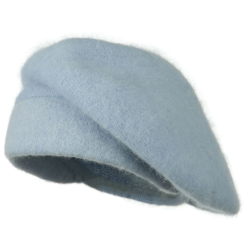 Lady Angora Beret - Light Blue - Hats and Caps Online Shop - Hip Head Gear