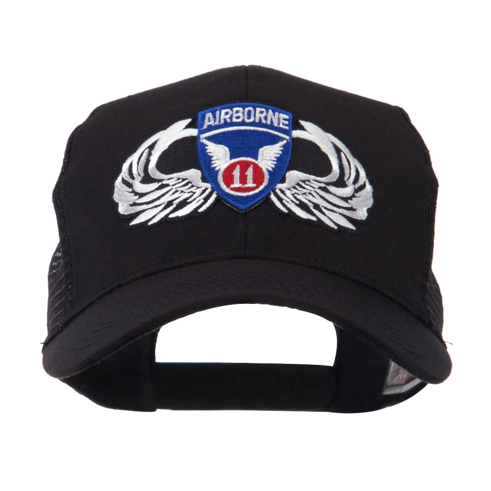 Air Borne Wing Shape Patched Mesh Cap - 11th - Hats and Caps Online Shop - Hip Head Gear