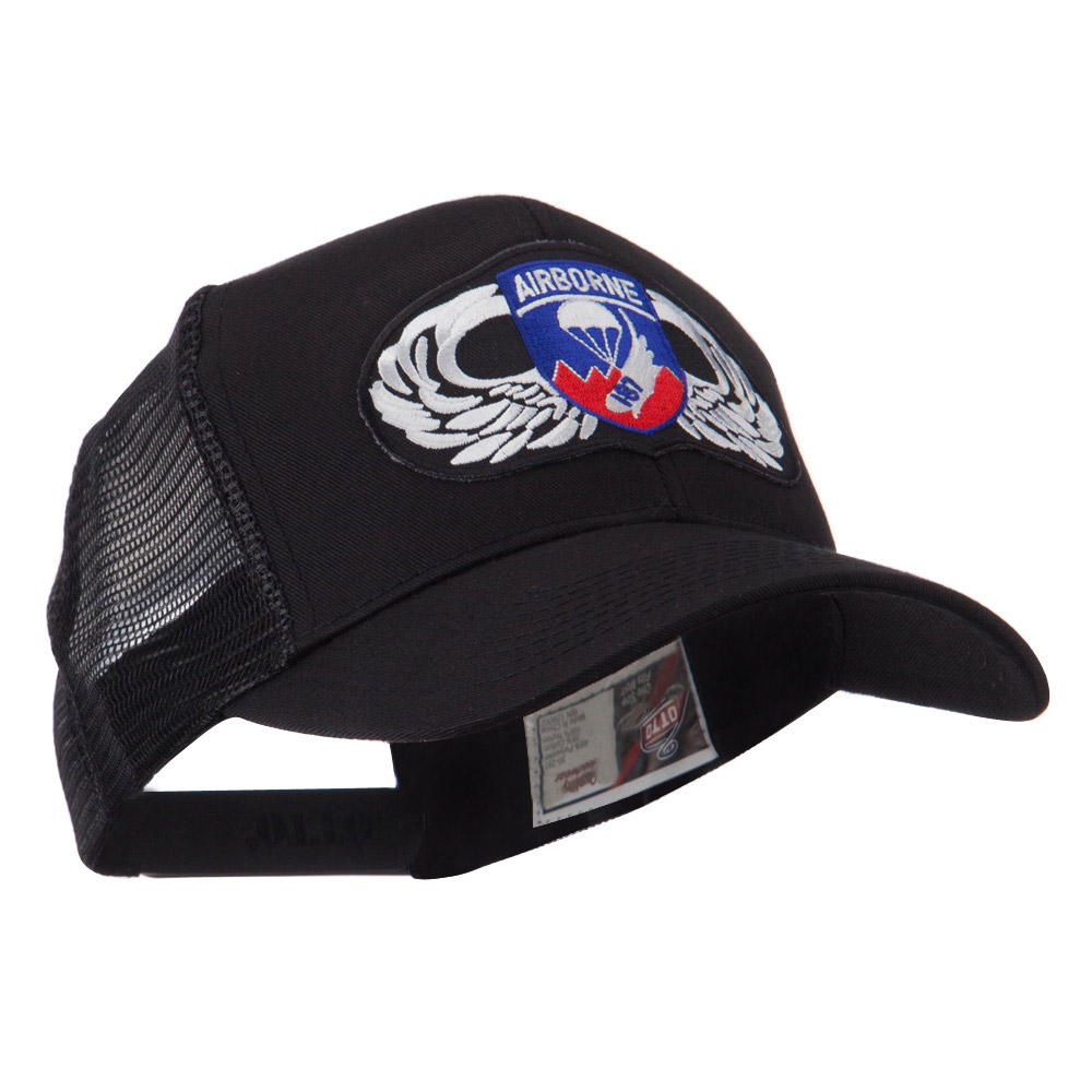 Air Borne Wing Shape Patched Mesh Cap - 187th - Hats and Caps Online Shop - Hip Head Gear
