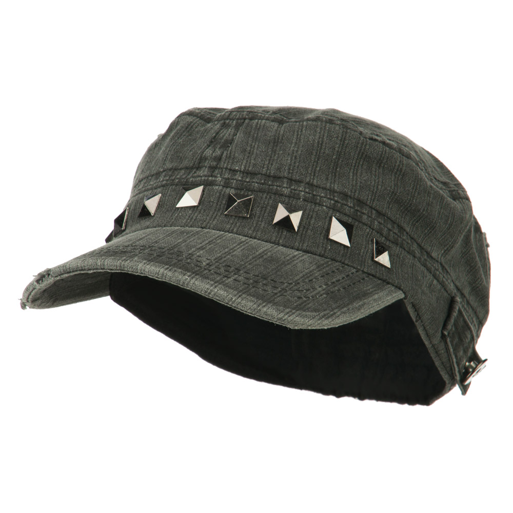 Army Cadet Fitted Cap with Studs - Black 1a93e5ca2642