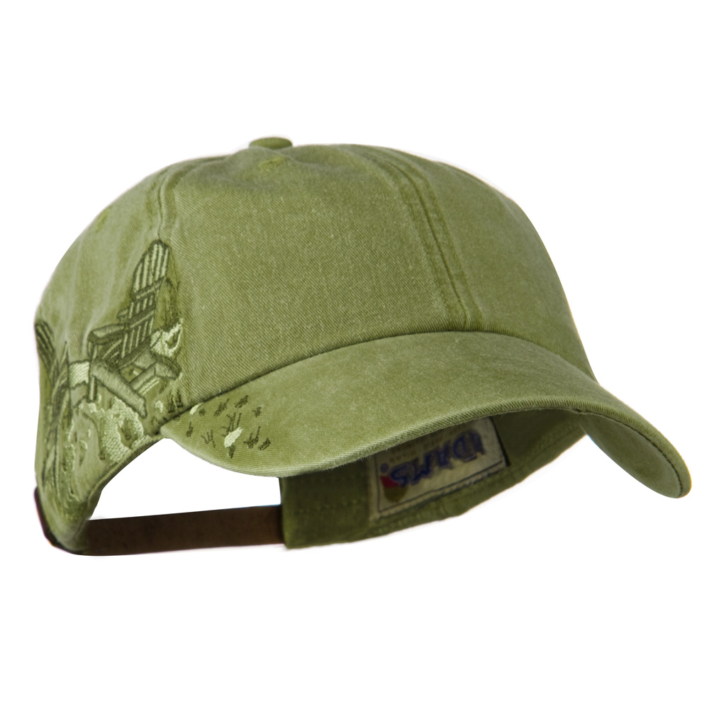 Adirondack Chairs Embroidered Design Cap - Khaki - Hats and Caps Online Shop - Hip Head Gear