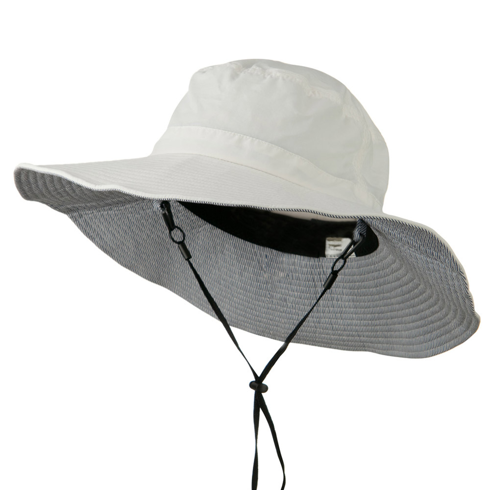 Big Size Talson UV Bucket Hat with Adjustable Chin Cord - White - Hats and Caps Online Shop - Hip Head Gear