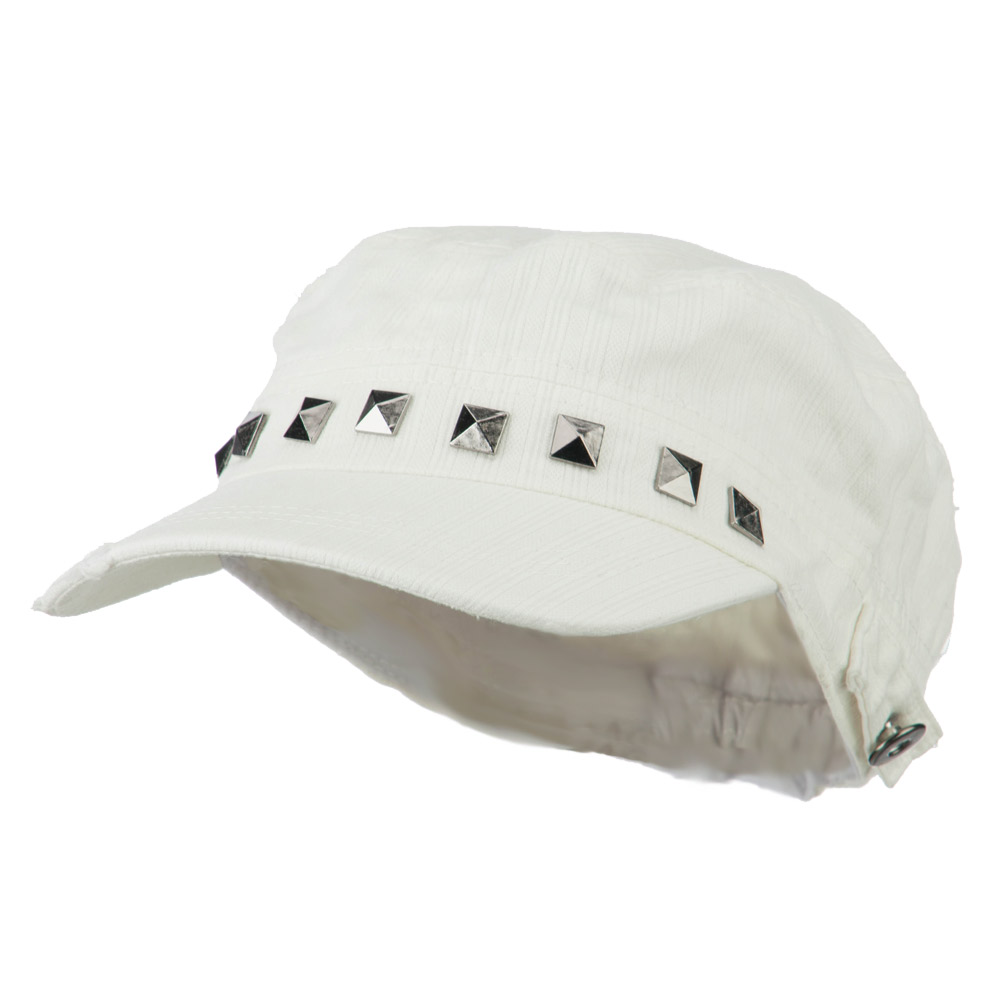 Army Cadet Fitted Cap with Studs - White - Hats and Caps Online Shop - Hip Head Gear