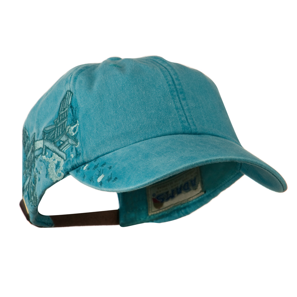 Adirondack Chairs Embroidered Design Cap - Caribbean Blue - Hats and Caps Online Shop - Hip Head Gear