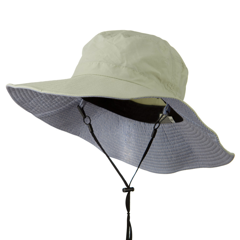 Big Size Talson UV Bucket Hat with Adjustable Chin Cord - Khaki - Hats and Caps Online Shop - Hip Head Gear