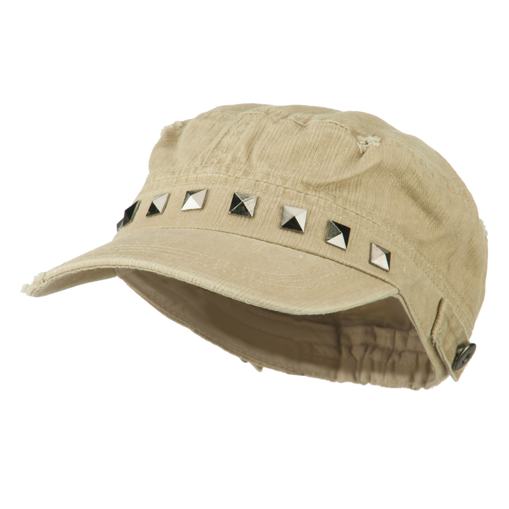Army Cadet Fitted Cap with Studs - Tan - Hats and Caps Online Shop - Hip Head Gear