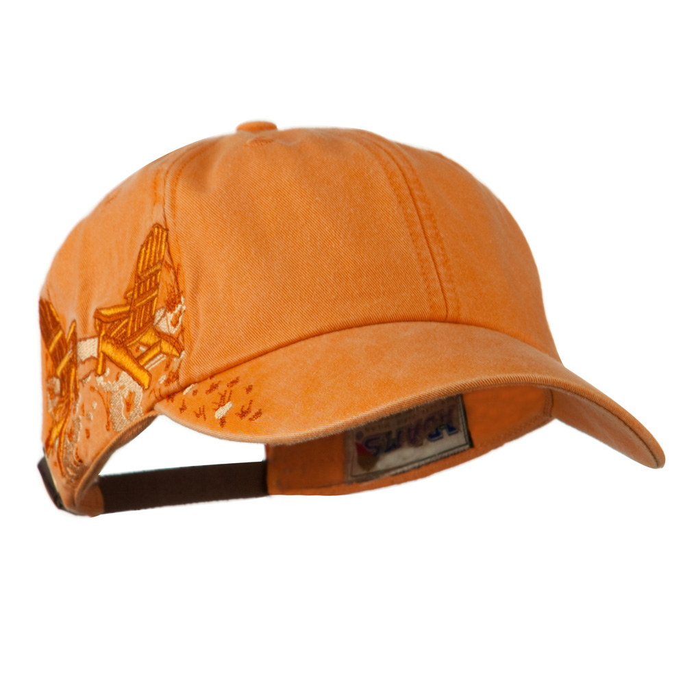 Adirondack Chairs Embroidered Design Cap - Tangerine - Hats and Caps Online Shop - Hip Head Gear