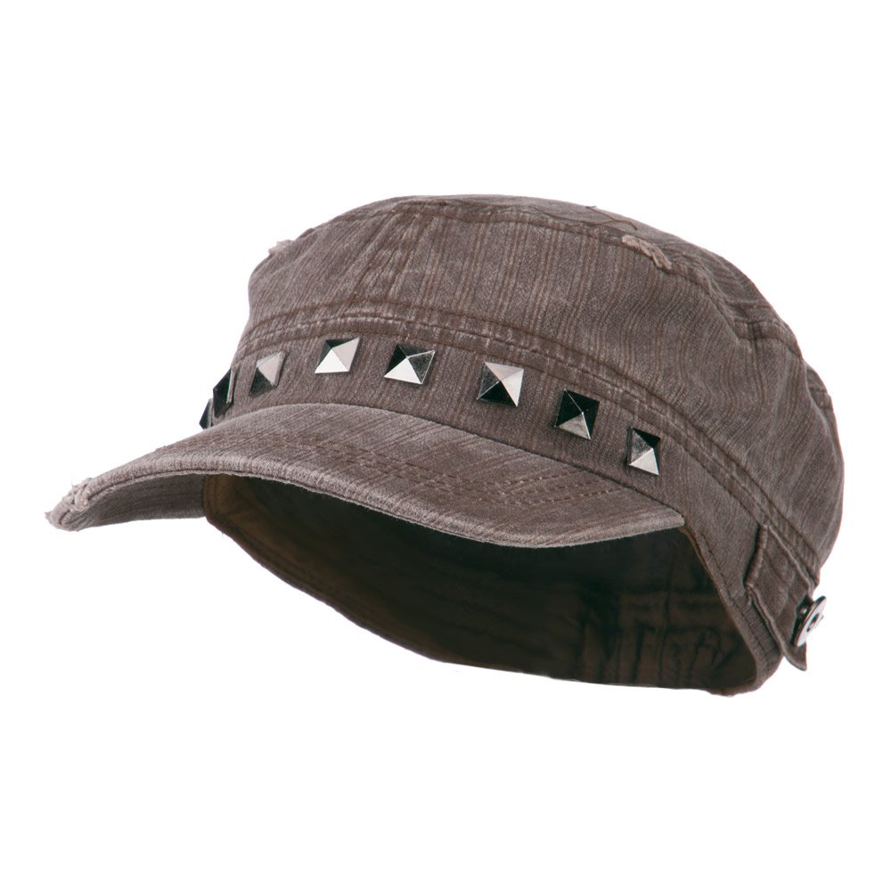 Army Cadet Fitted Cap with Studs - Brown - Hats and Caps Online Shop - Hip Head Gear