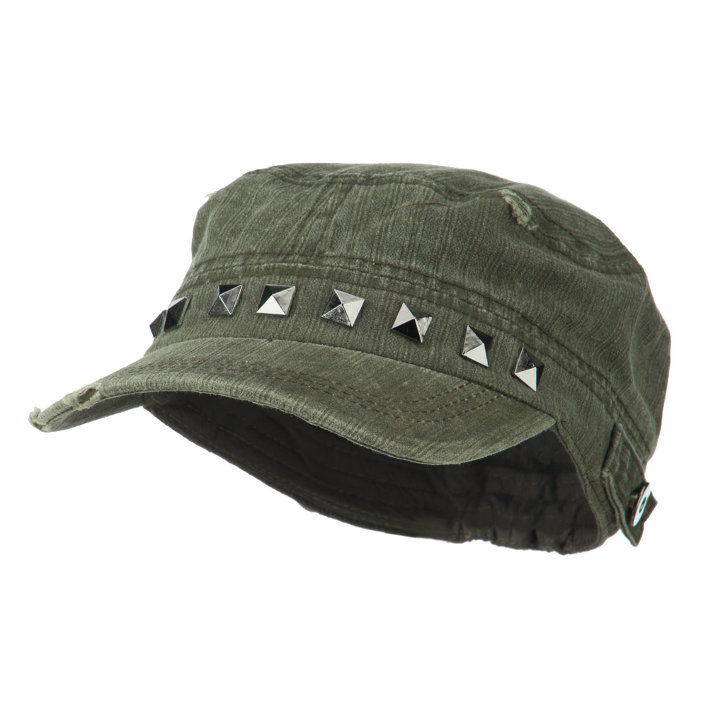 Army Cadet Fitted Cap with Studs - Olive - Hats and Caps Online Shop - Hip Head Gear