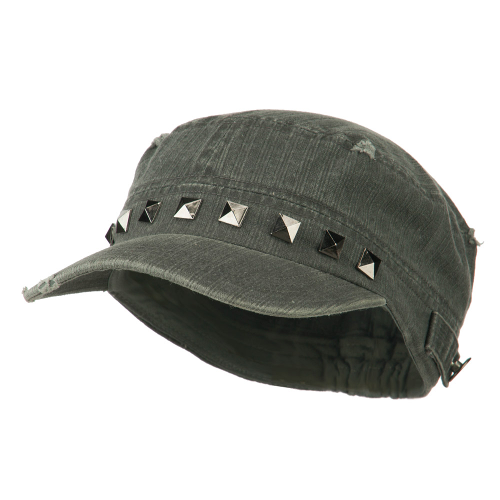 Army Cadet Fitted Cap with Studs - Grey - Hats and Caps Online Shop - Hip Head Gear