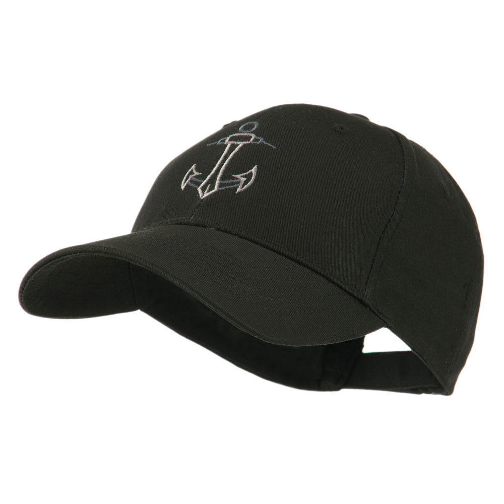 Anchor Logo Embroidered Cap - Black - Hats and Caps Online Shop - Hip Head Gear