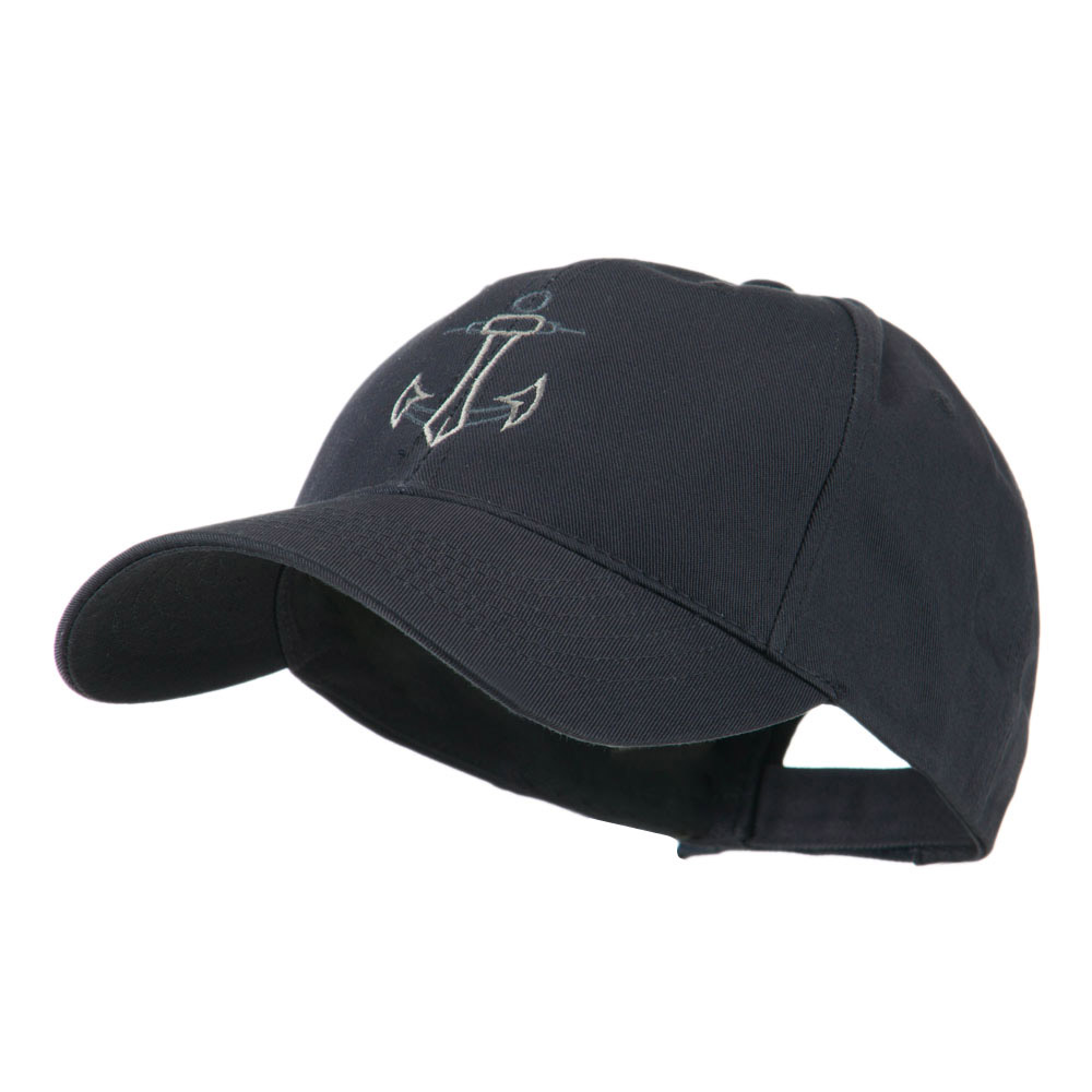 Anchor Logo Embroidered Cap - Navy - Hats and Caps Online Shop - Hip Head Gear