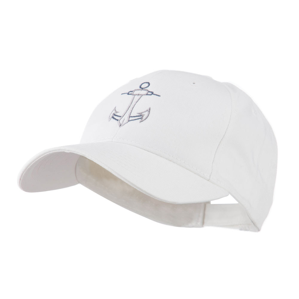 Anchor Logo Embroidered Cap - White - Hats and Caps Online Shop - Hip Head Gear