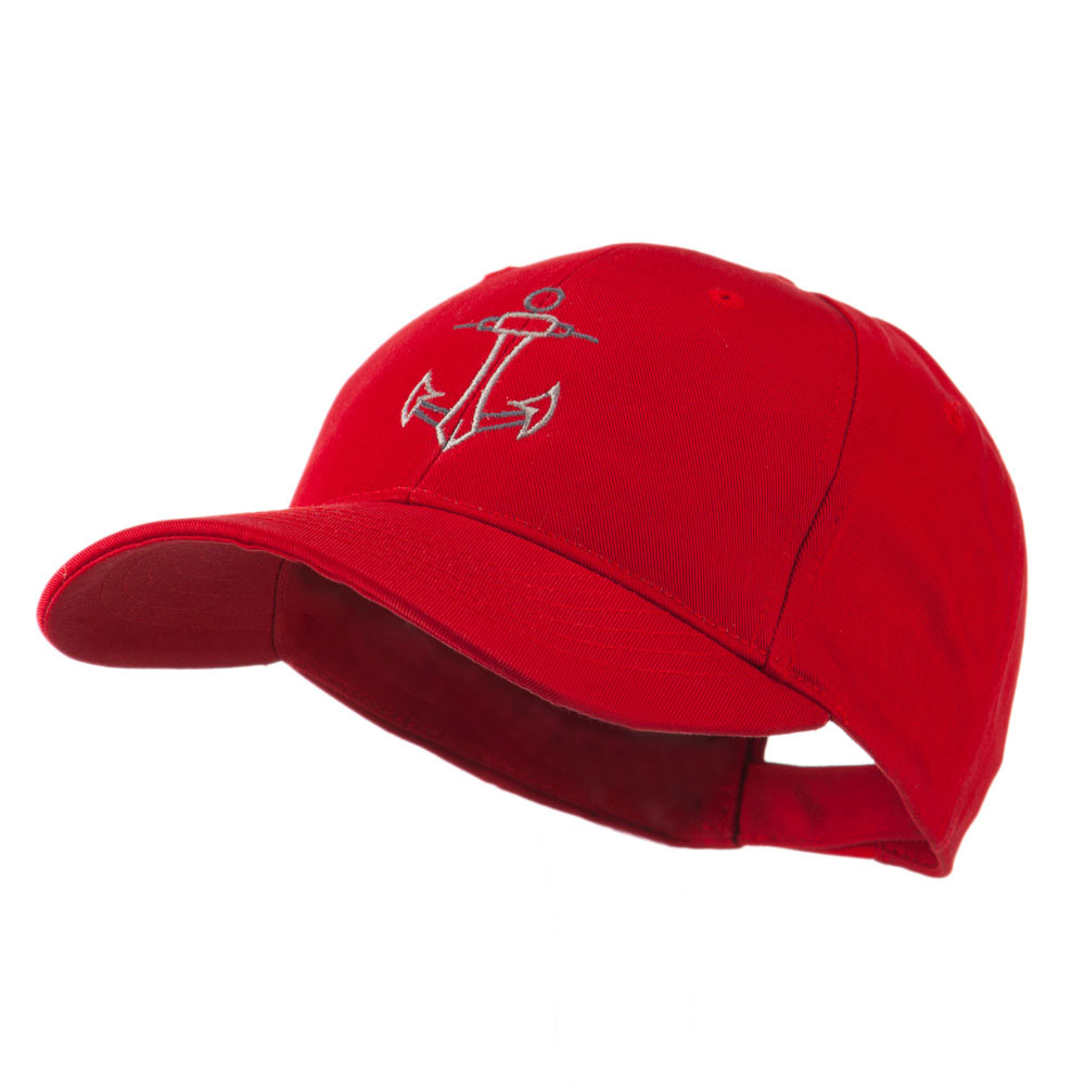 Anchor Logo Embroidered Cap - Red - Hats and Caps Online Shop - Hip Head Gear