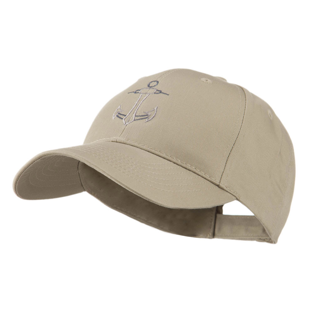 Anchor Logo Embroidered Cap - Khaki - Hats and Caps Online Shop - Hip Head Gear