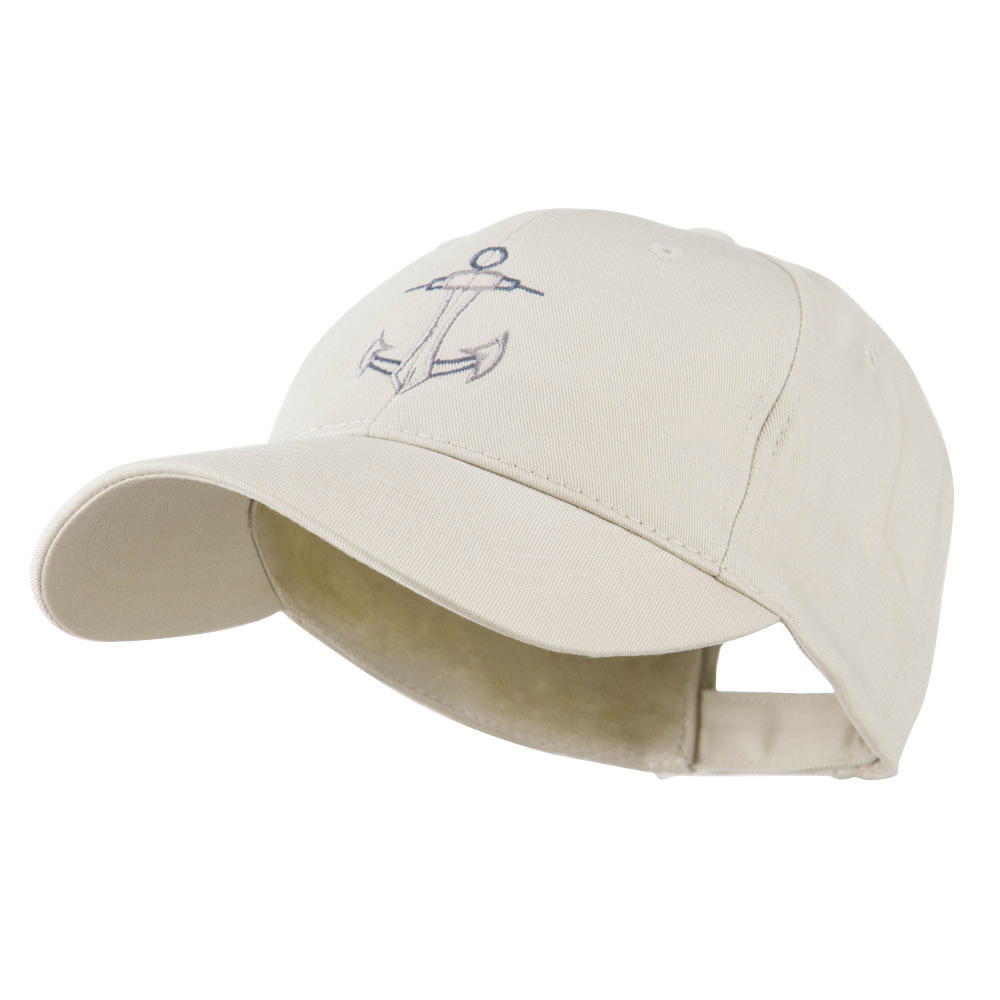 Anchor Logo Embroidered Cap - Stone - Hats and Caps Online Shop - Hip Head Gear