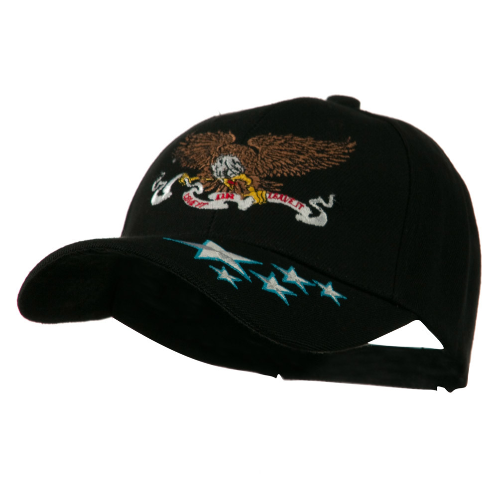 Army Cap with Bill Design - Banner Eagle - Hats and Caps Online Shop - Hip Head Gear