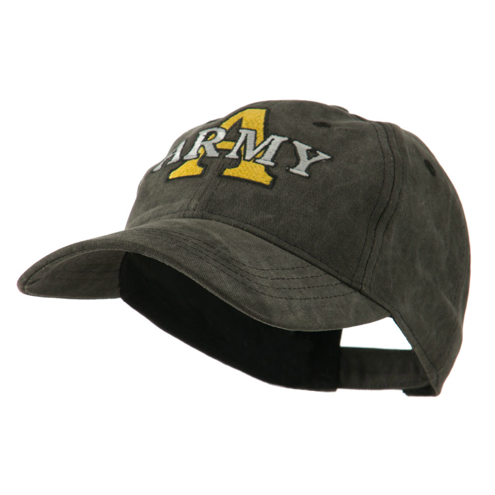 Army Divisions Cotton Washed Cap - Black - Hats and Caps Online Shop - Hip Head Gear