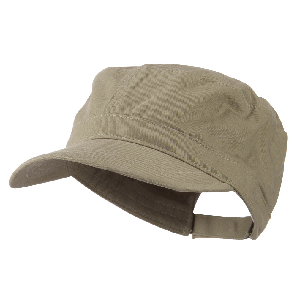 Adjustable Cotton Military Cap - Khaki - Hats and Caps Online Shop - Hip Head Gear