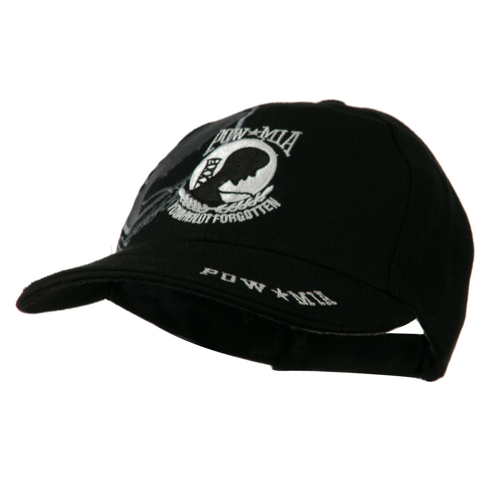 Army Cap with Bill Design - Black POW MIA - Hats and Caps Online Shop - Hip Head Gear