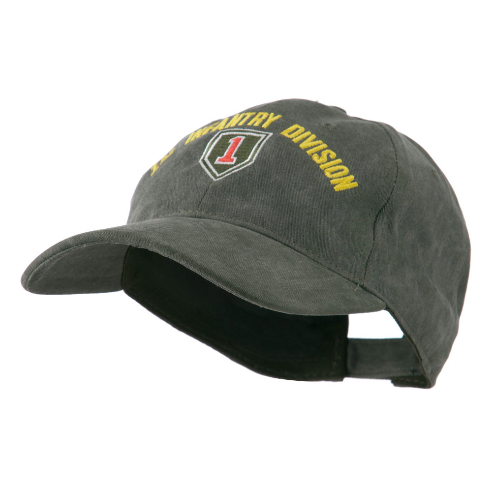 Army Divisions Cotton Washed Cap - Green - Hats and Caps Online Shop - Hip Head Gear