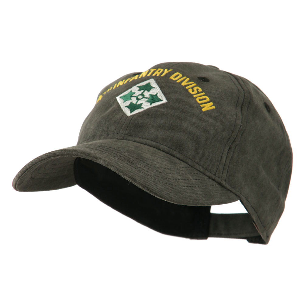 Army Divisions Cotton Washed Cap - 4th - Hats and Caps Online Shop - Hip Head Gear