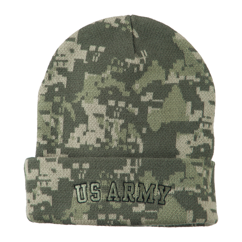 Army Embroidered Digital Camo Beanie - US Army - Hats and Caps Online Shop - Hip Head Gear