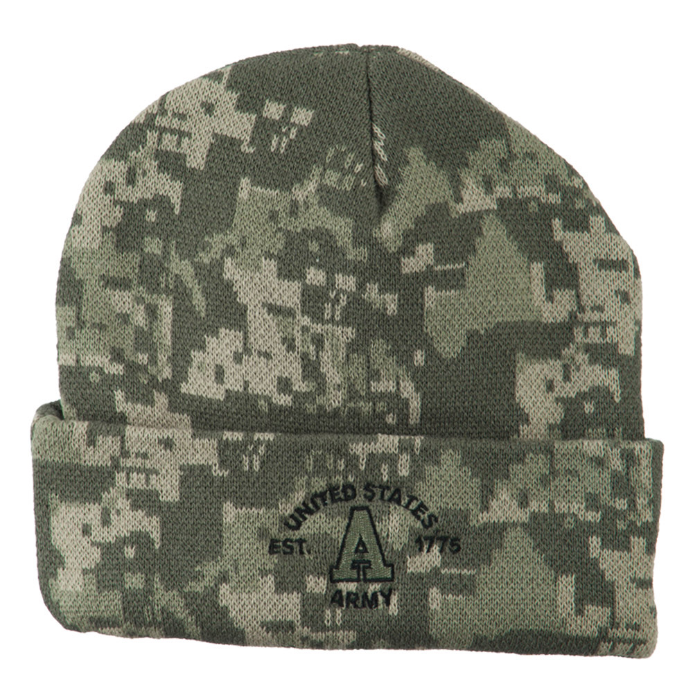 Army Embroidered Digital Camo Beanie - United States Army - Hats and Caps Online Shop - Hip Head Gear