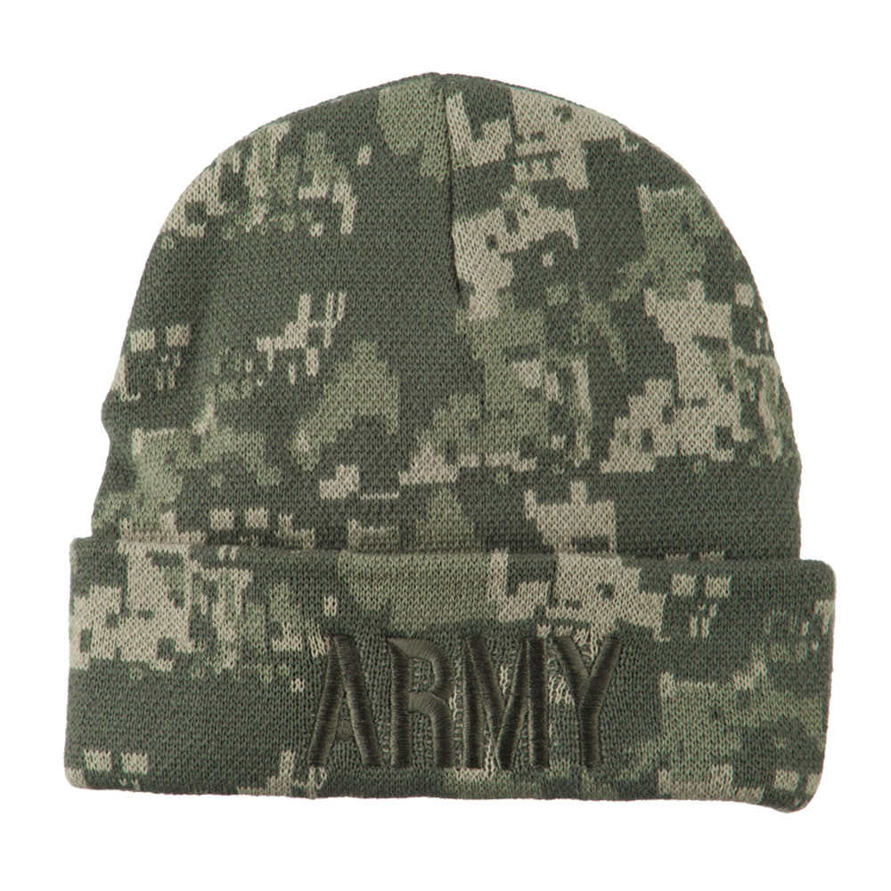 Army Embroidered Digital Camo Beanie - Army - Hats and Caps Online Shop - Hip Head Gear