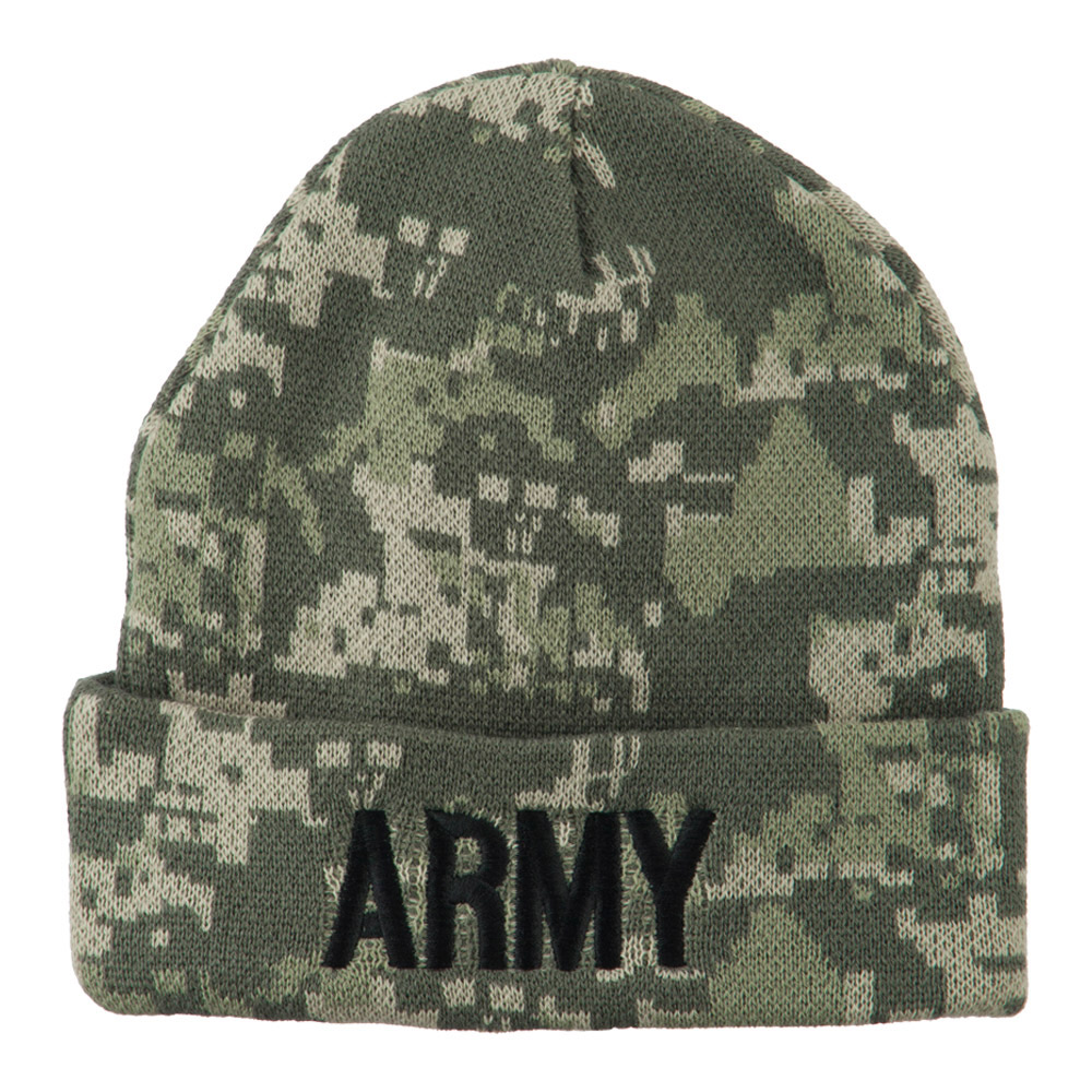 Army Embroidered Digital Camo Beanie - Army 2 - Hats and Caps Online Shop - Hip Head Gear