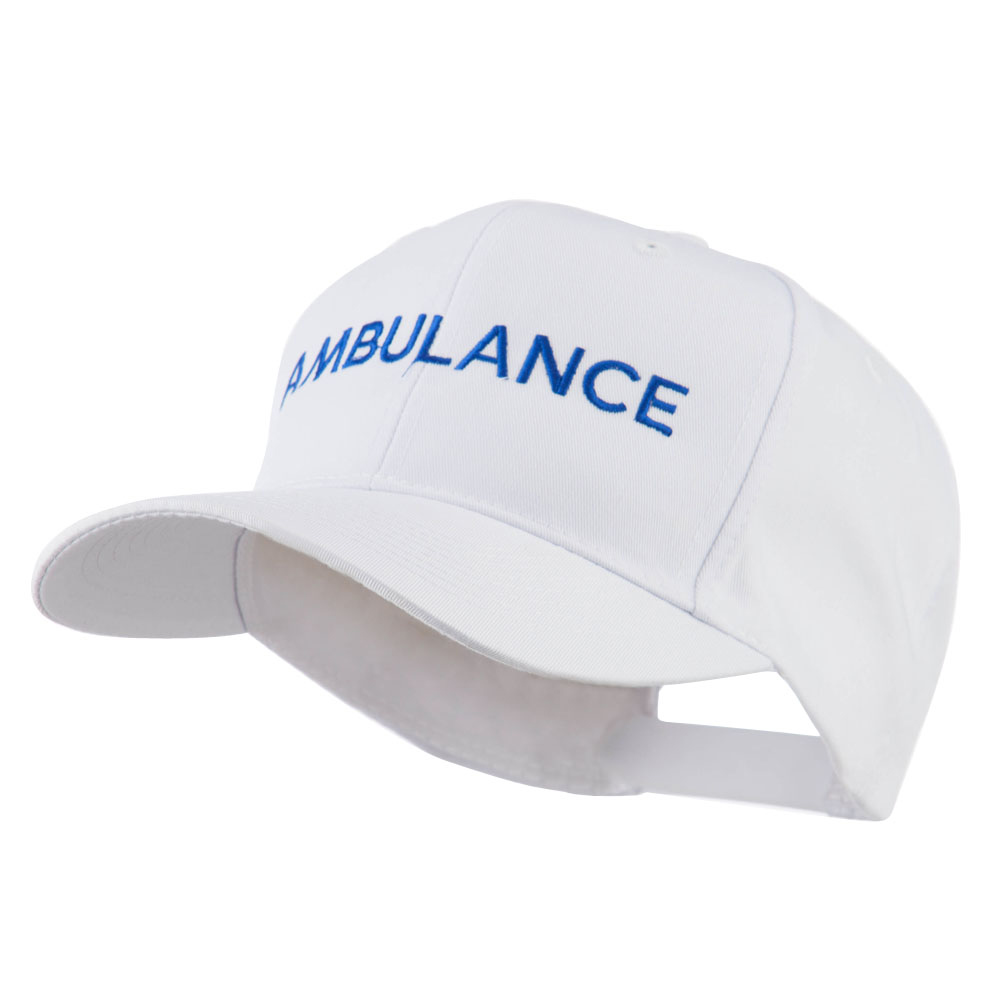 Ambulance Embroidered Cap - White - Hats and Caps Online Shop - Hip Head Gear