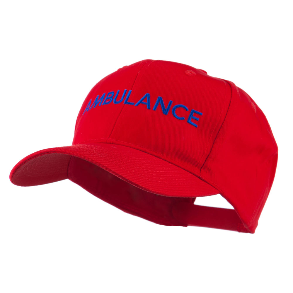 Ambulance Embroidered Cap - Red - Hats and Caps Online Shop - Hip Head Gear