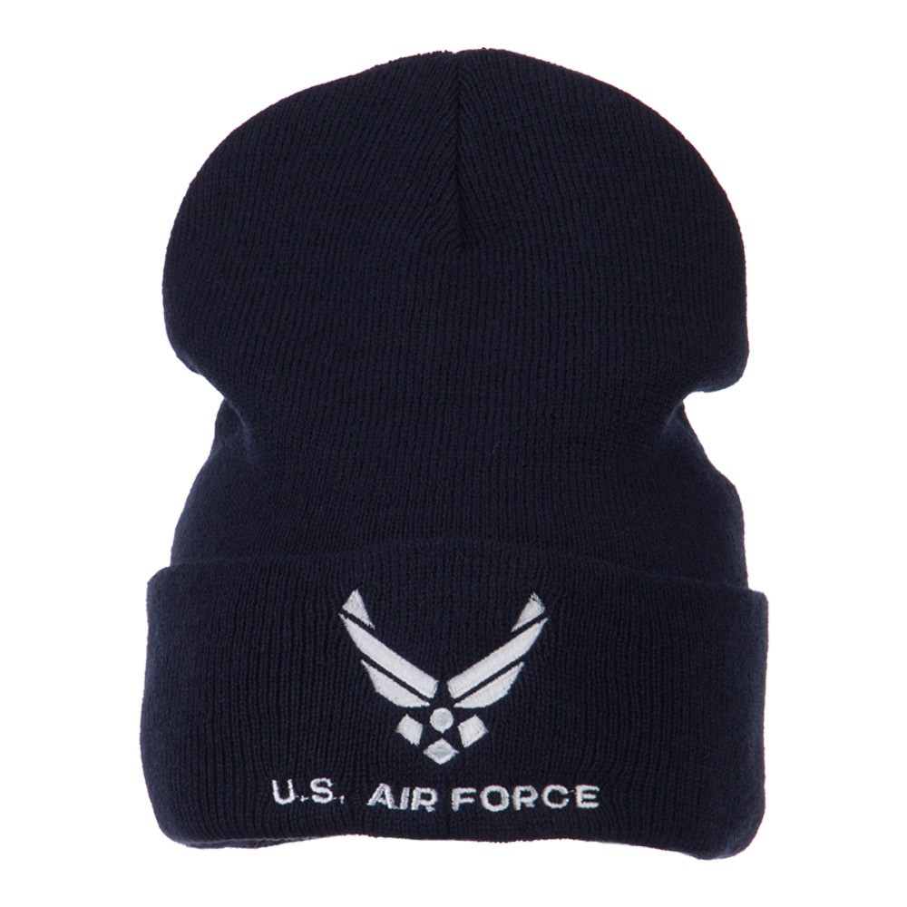 Air Force Embroidered Knit Military Beanie - Air Force - Hats and Caps Online Shop - Hip Head Gear