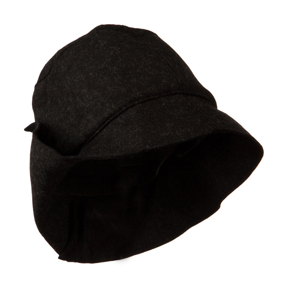 Asymmetrical Felt Hat - Black - Hats and Caps Online Shop - Hip Head Gear